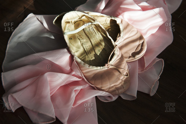Ballet slippers and tutu