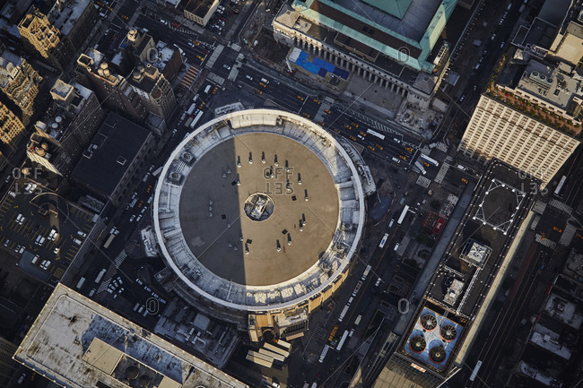 July 28, 2015: Aerial view of Madison Square Garden