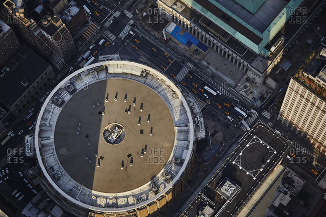 Aerial of Madison Square Garden