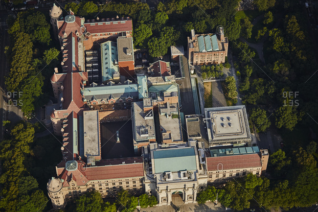Aerial view of the Museum of Natural History in New York City