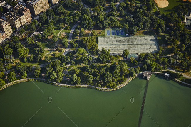 Aerial of Central Park in New York City