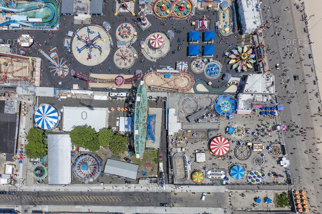June 25, 2016: Aerial view of Coney Island