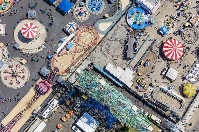 June 25, 2016: Aerial of Coney Island