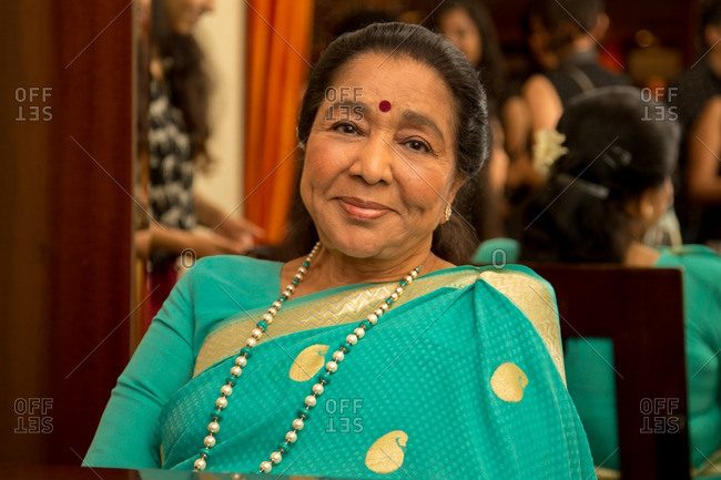 May 30, 2015: Portrait of a singer Asha Bhosle