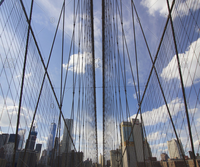 Brooklyn Bridge cable supports