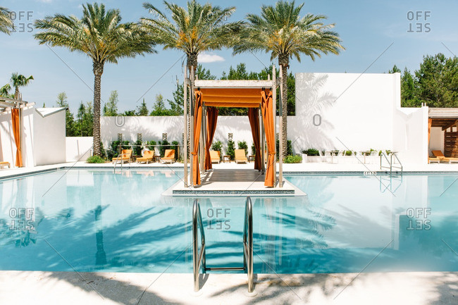 May 15, 2016: Upscale pool in tropical setting