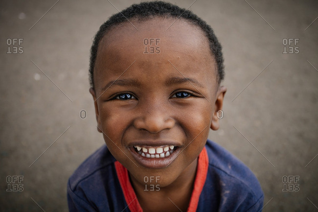October 3, 2013: A grinning Ethiopian boy