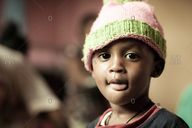August 28, 2011: Ethiopian boy in knit cap