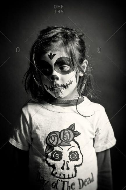 November 3, 2011: Girl in skeleton makeup