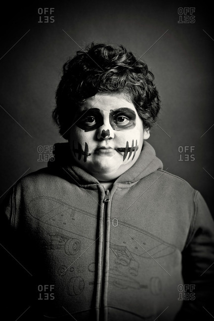 November 3, 2011: Boy in Day of the Dead makeup