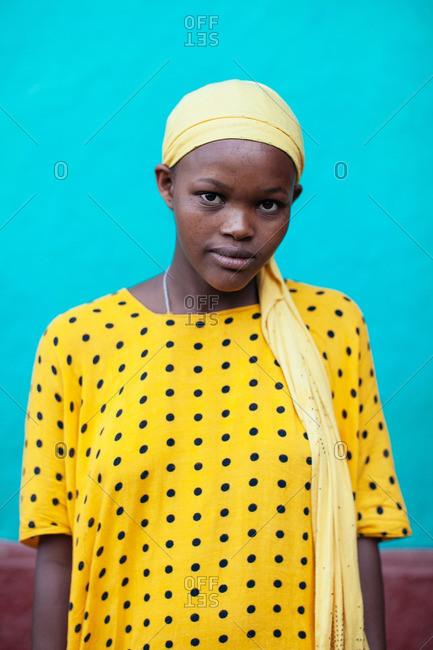 September 24, 2013: Ethiopian woman in head wrap
