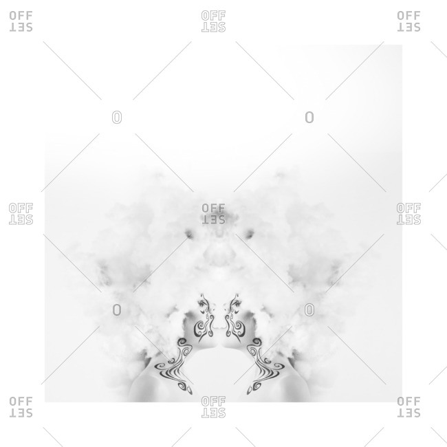 January 2, 2013: Woman in kissing symmetry