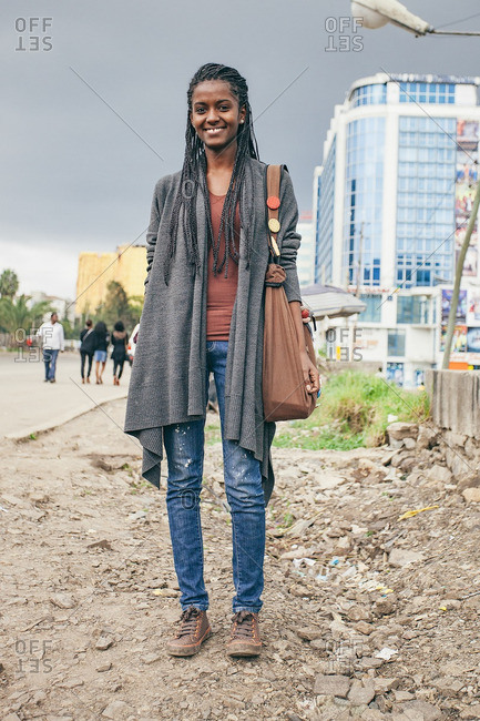 August 26, 2011: Woman in casual clothes, Ethiopia