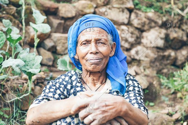 March 27, 2012: An elderly Ethiopian woman
