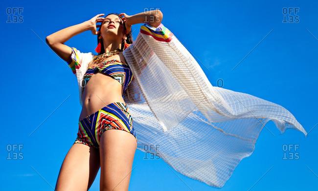 June 19, 2012: Woman in trendy bikini
