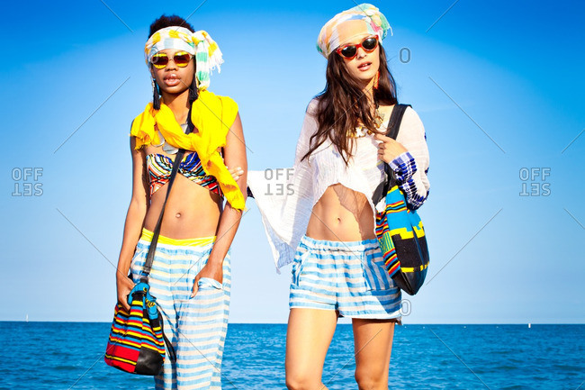 June 19, 2012: Women modeling summer fashion