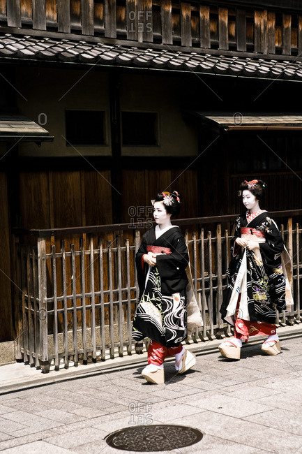 August 1, 2010: Maiko geishas observing Hassaku in Japan