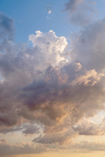 Dramatic cloudscape at sunset