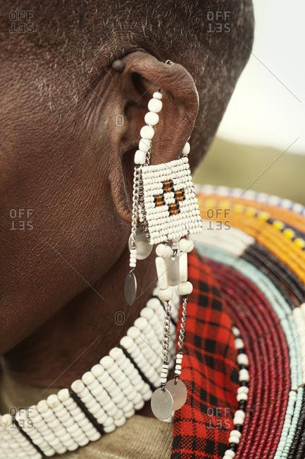Details of handmade Masai jewelry