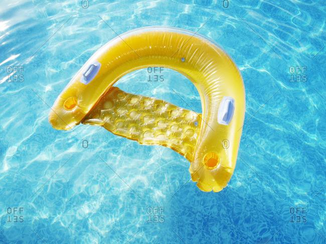 Yellow inflatable pool toy