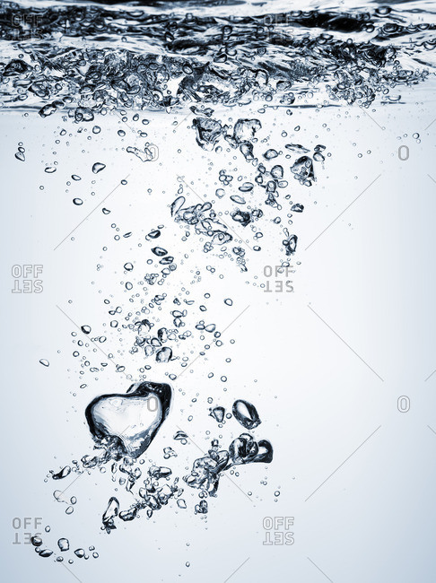 Bubbles rising in water - from the Offset Collection