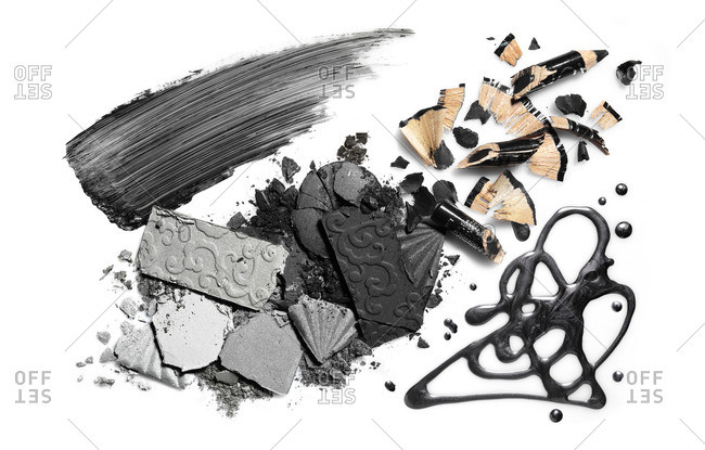 Various smashed beauty products