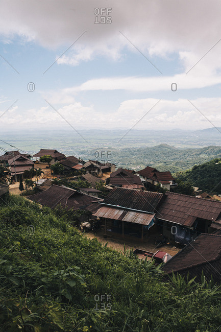 Rustic ethnic minority village in the mountains of northern Thailand