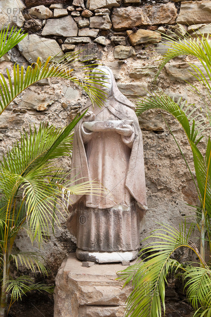 statue of Holy Mary in Casco Viejo, the old colonial part of Panama City