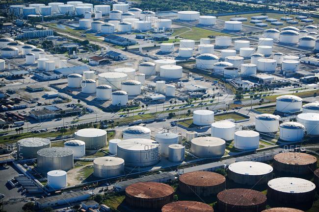 Oil storage tanks in fort Lauderdale