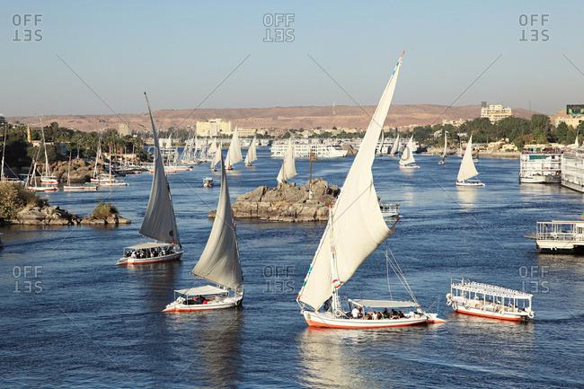 Egypt: Felucca boats on nile cataract