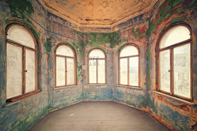 Turret in an abandoned mansion