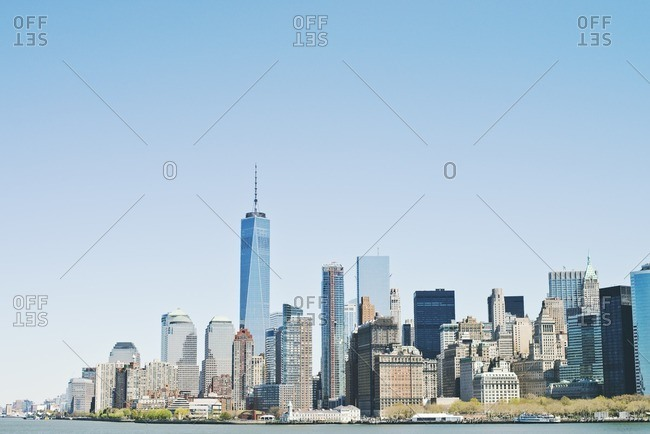 Freedom Tower and the skyline of Lower Manhattan