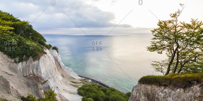 Denmark, Mon Island, Mons Klint, Chalk cliffs