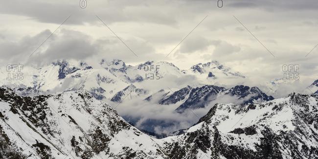 Germany, Bavaria, Allgaeu, Allgaeu Alps, Hoefats in winter