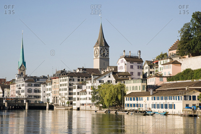 Architecture and the river limmat in Zurich