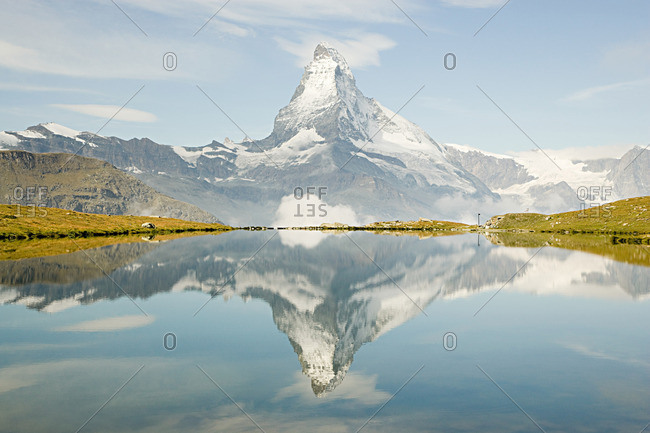 Matterhorn reflected in a lake