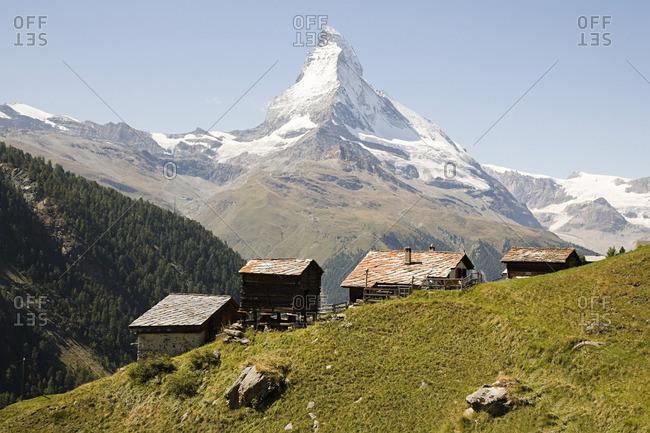 Hillside houses near Matterhorn