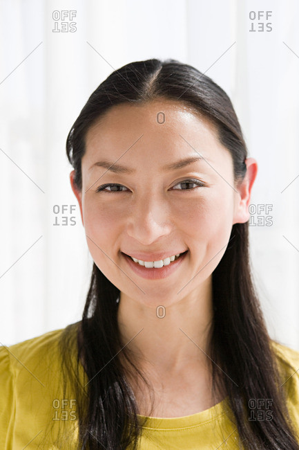 Portrait of a smiling Japanese woman