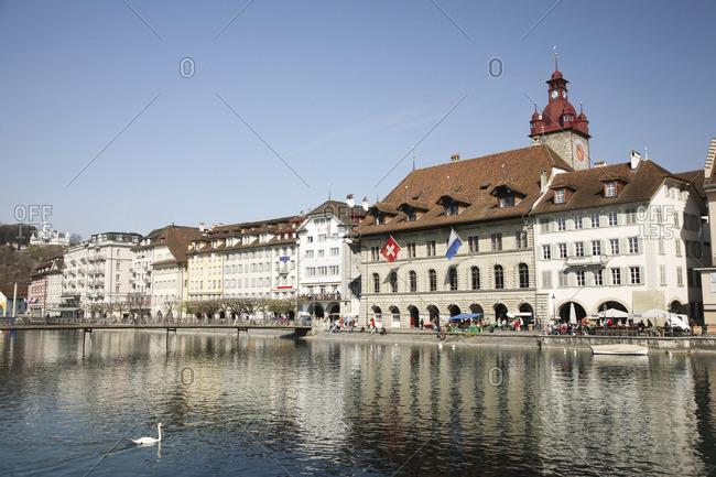 Switzerland: River reuss lucerne