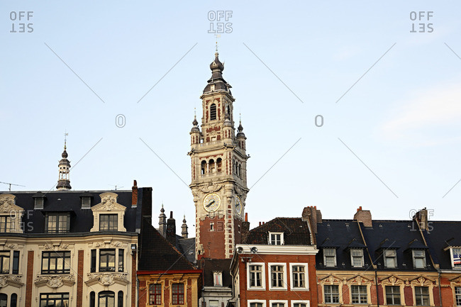 Clock tower in Lille
