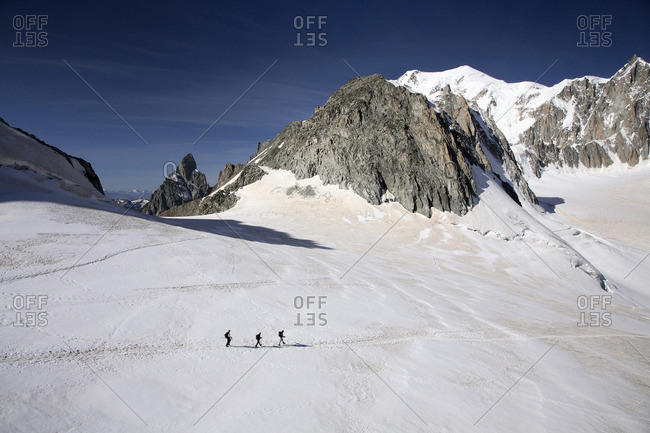 Hikers in French alps