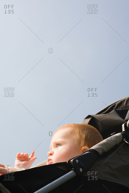 Baby in push chair