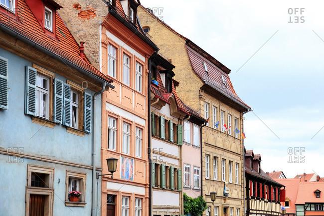 Row of traditional German buildings