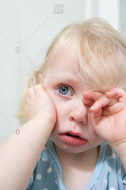 Little girl crying