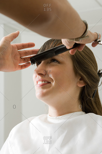 Girl at the hair salon