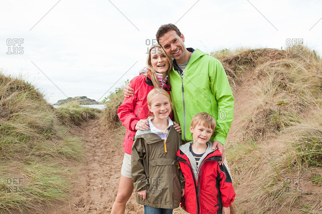 Family on a dune