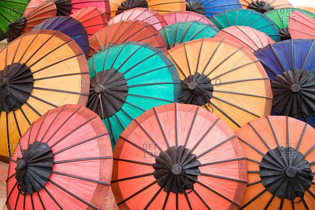 Handmade umbrellas in laos