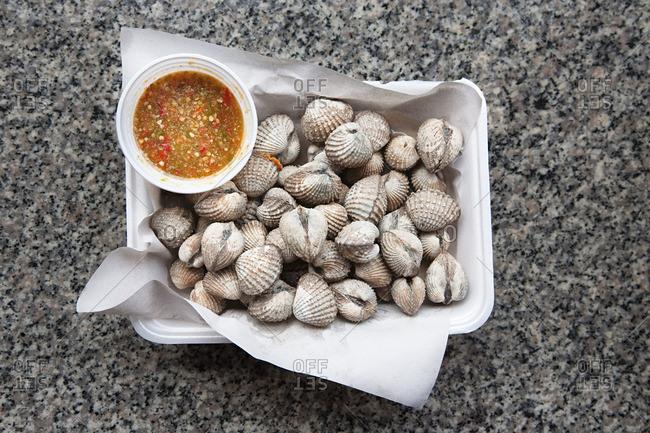 Shellfish takeaway food