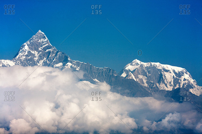 Machapuchare and Annapurna peaks