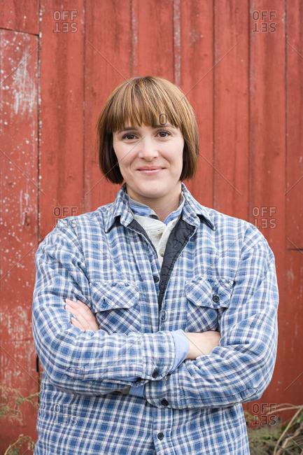 Portrait of a female farmer